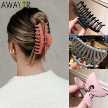 2020 New Claw Clip for Women Tough Black Plastic Hair Claw Large Size Hair Clamps Claw Clip Crab for Hair Accessories for Hair