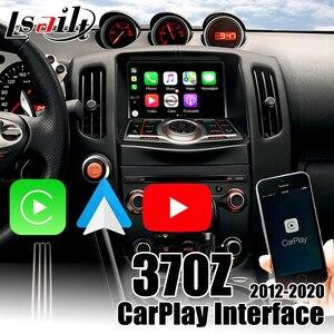 Беспроводной интерфейс Lsailt CarPlay для Nissan 370Z 2010-2018, встроенный Авто Android, видео входы, youtube