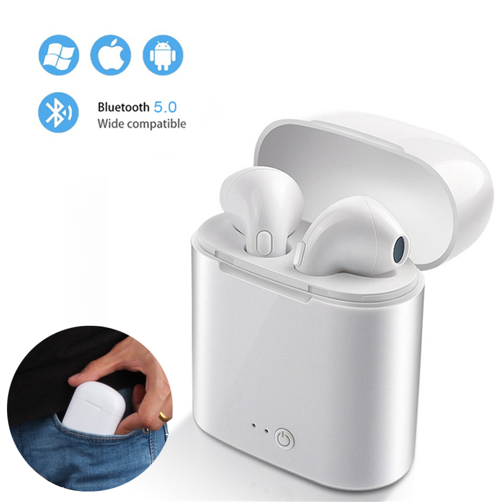 TWS I7s Bluetooth Earphone Stereo Earbud Bluetooth Wissless Headset With Charging Pod Wireless Headsets For All Smart Phone