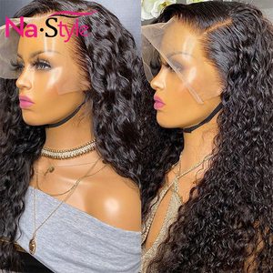 Image 4 - Curly Human Hair Wig 26Inch 13x4 Glueless Lace Front Human Hair Wigs Pre Plucked Bleached Knots 150 250 Brazilian Wig Remy Hair