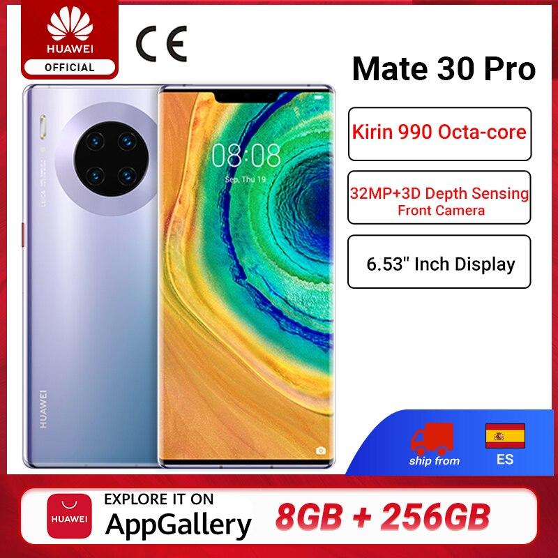 DHL Free Ship Global Version HUAWEI Mate 30 Pro Mobile Phones Kirin 990 8G 256G 6.53 inch 40MP Triple Cams 4500mAh Smartphone