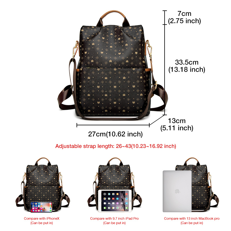 Foxer Fory Women Backpack High Quality PVC