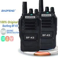 מכשיר הקשר 2pcs ניו Baofeng BFK5 מכשיר הקשר 5W UHF Portable חובב BFK5 Comunicador K5 Ham Radio טווח תחנת Handy Politie סורקים (1)