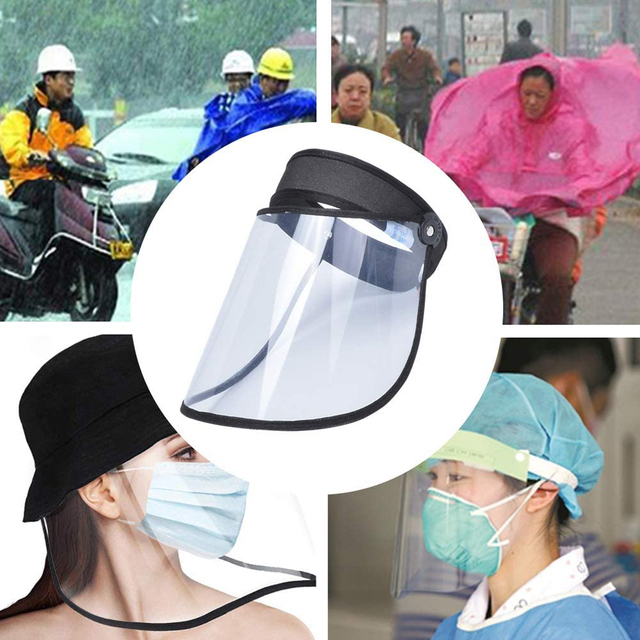 Mistdawn Summer Unisex Full Face Anti-fog Shield Cover Anti Saliva Visor Clear Cap Sun Hat UV Protection Dustproof Windproof 3
