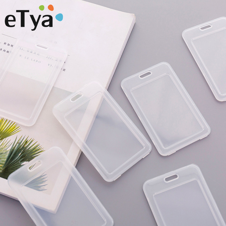 ETya Student Bus Card Case Bag Fashion Men Women Bank Credit Card Protective Cover PVC Transparent ID Card Holder Protector