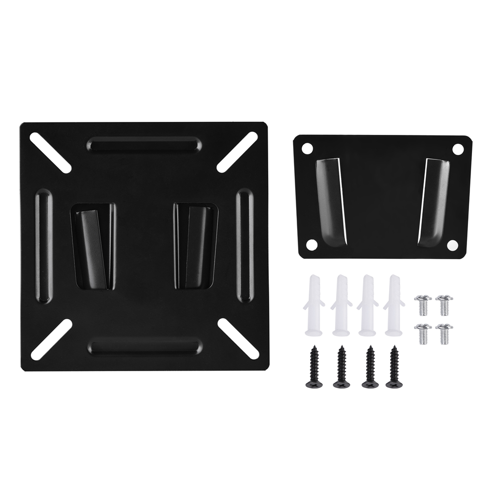Universal TV Wall Mount Bracket Metal TV Stand Fixed Flat Panel TV Frame Stand Holder for 12-24 Inch LCD LED Monitor PC Screen