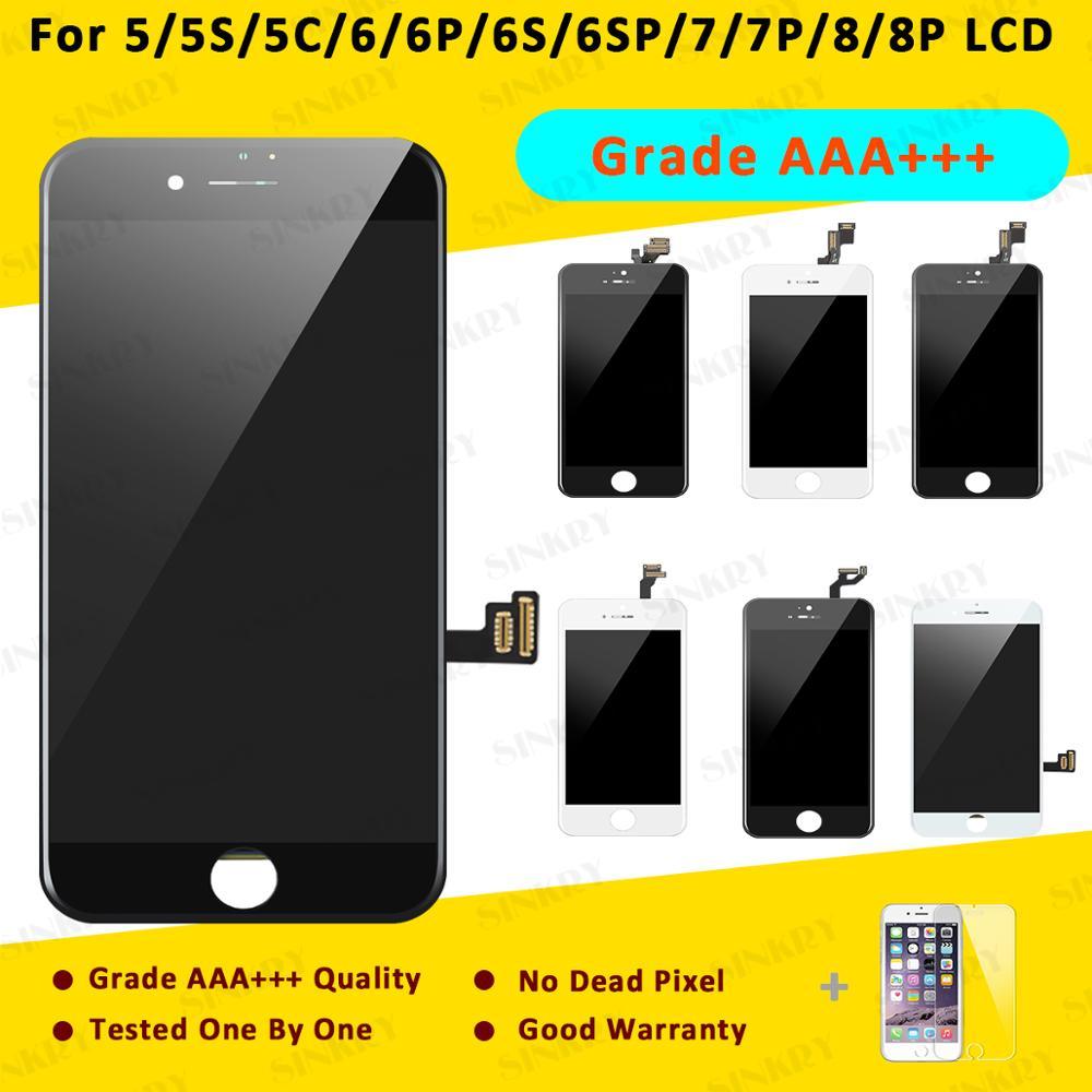 10 шт. класс AAA + сменный сенсорный экран дигитайзер сборка ЖК для iPhone 5 5S 6 6S 7 8 Plus дисплей