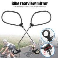 1 par de bicicleta espelho traseiro segurança direita esquerda do lado da bicicleta espelho retrovisor para ciclismo x85|Espelhos de bicicleta| |  -