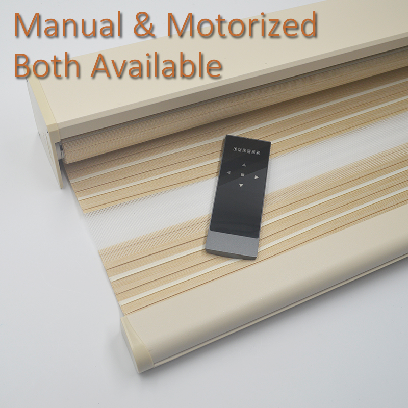 Smart Matters Motorized Window Zebra Blinds Shades Blockout Pleated Woven Electric Roller Fabric Curtains Office Home Customized