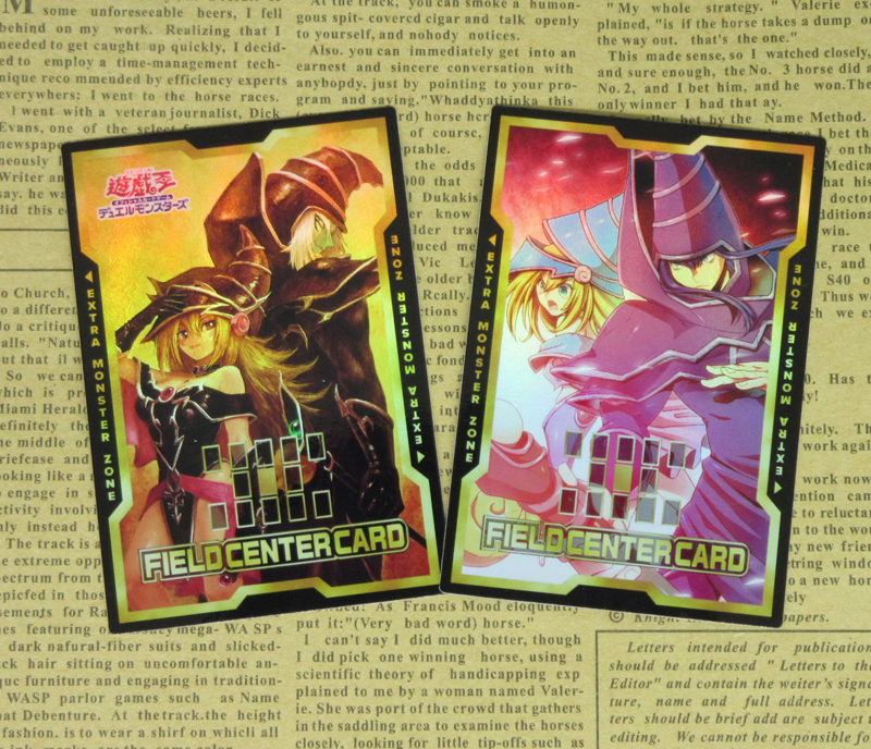 2pcs/set Dark Magician Teacher And Students Field Center Cards Yu-Gi-Oh! TCG OCG Classic Collectible Game Card