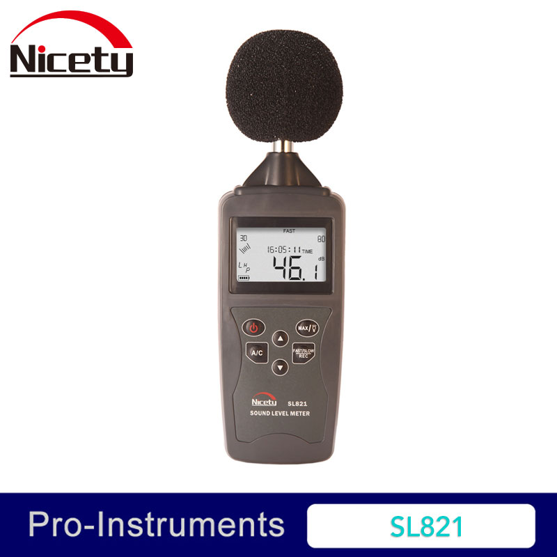 SL821-G 30-130 db a/c medidor de nível de áudio de som digital portátil iec651 medidor de medição decibel pcl pressão registador testador monitor