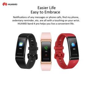 "Image 5 - HUAWEI Band 4 Pro 0.95"" Full AMOLED Touchscreen Smart Band Heart Rate Health Monitor GPS Sports Fitness Bracelet Women Men"