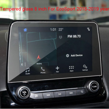 8 9 Inch for Ford EcoSport Car GPS Navigation Tempered Glass Screen Protector Steel Protective Film 2018 2019 year image