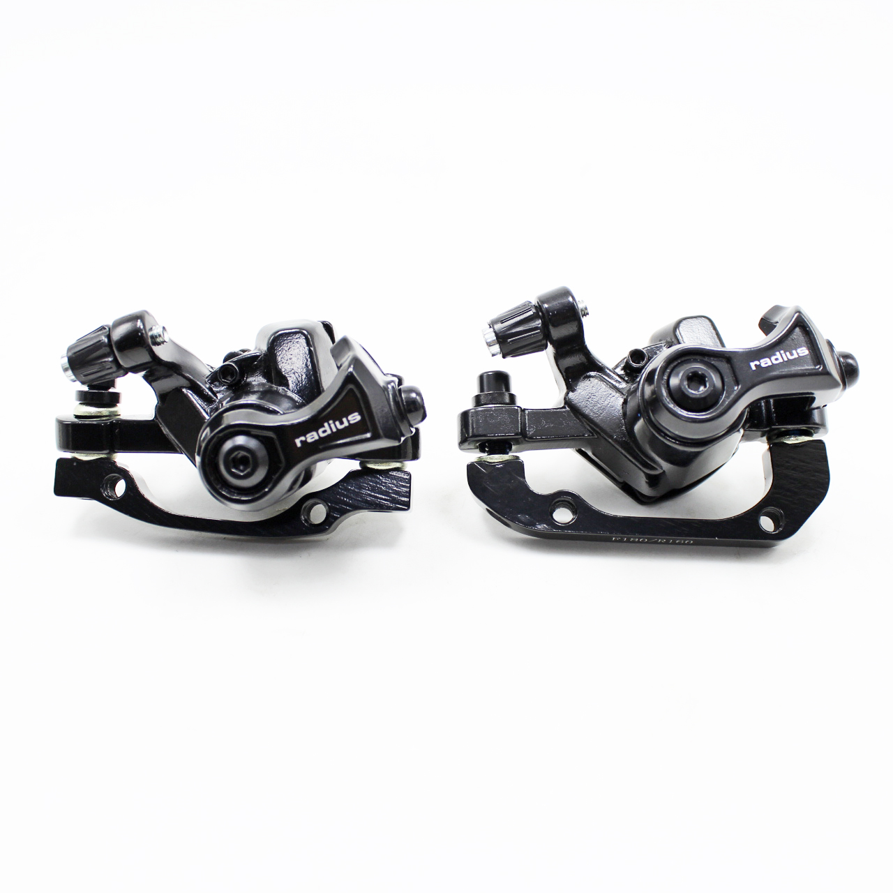 BlueSunshine MTB BB7 Mechanical Disc Brake Front and Rear 160mm Whit Bolts and C