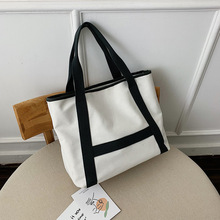 Canvas Tote 2019 Fashion Simple Large Capacity Wild Leisure Bag Shoulder Tide Wholesale