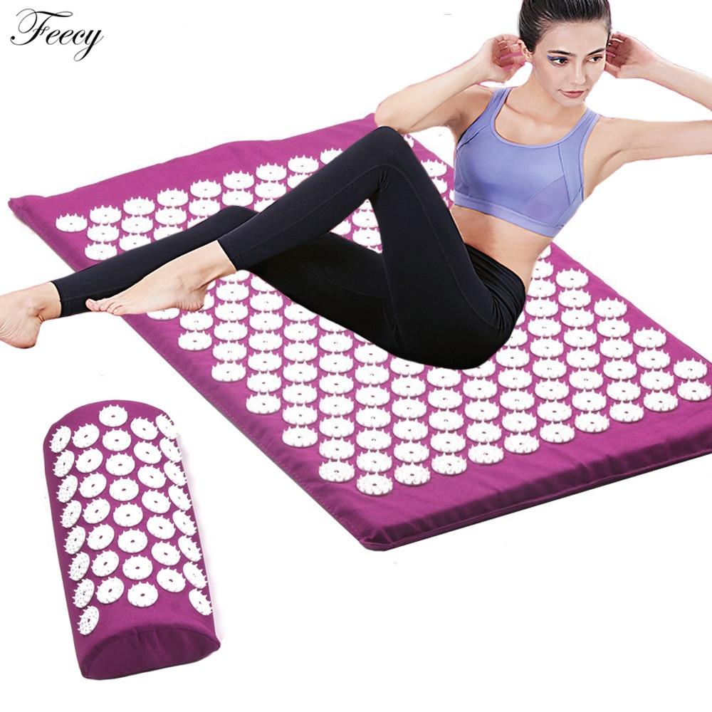 Acupressure Massager Mat Set Back Body Foot Cushion Massage Pad Relieve Stress Pain Shakti Acupuntur