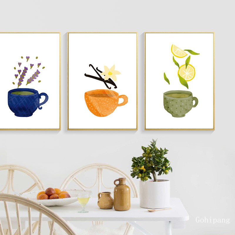 Watercolor-Tea-Cup-Art-Canvas-Painting-Prints-Kitchenware-Wall-Art-Posters-Pictures-For-Dining-Hall-Kitchen (2)