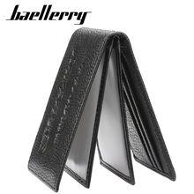 Длинный мужской кожаный бумажник baellerry карман для телефона