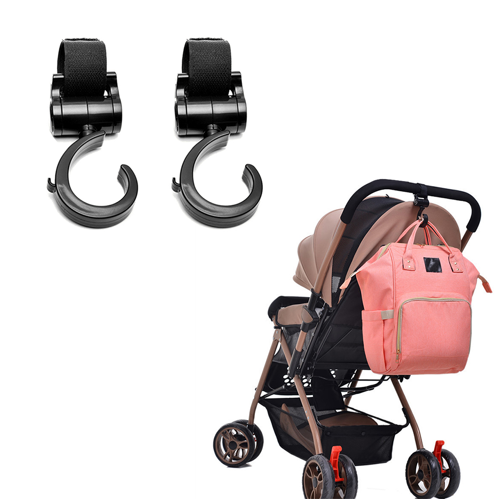 2PCS/Set Baby Walker Stroller Hook 360 Degree Stroller Hook Can Be Used For Hanging Bags Multi-Purpose Firm Stroller Hook