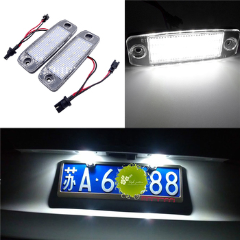 liandlee for volkswagen vw polo polo vivo led car license plate lights number frame light high quality led lamp Fit For KIA Carens / Ceed / Rondo 1 Pair 12V LED Car License Plate Light Number Plate Lamp High Quality LED Lights