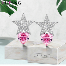 Xuping Heart Shape Studs Earrings Lovely Crystals from Swarovski Elegant Jewelry for Women Thanksgiving Gifts S144.3--95035 swarovski lovely crystals mini 5242904
