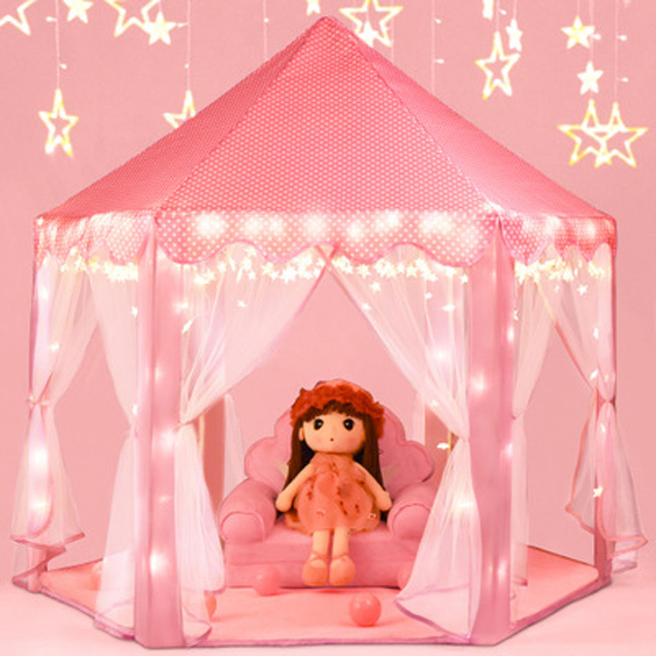 Portable Children's Tent Princess Castle Kids Tent Toys For Girls Tipi Infantil Children's House Vigvam Teepee Baby Tent Gifts