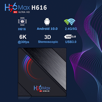 LEMFO H96 Max H616 Android TV BOX 6K HDR 2.4G/5G WIFI Support Google Play Youtube Cast Screen TV Box Android10.0