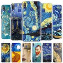 Noite Estrelada de Van Gogh pinturas Phone Cases para Samsung Galaxy A10 A20 A30 A40 A50 A70 A51 A71 5G A11 A21 A31 A91 Capa Dura
