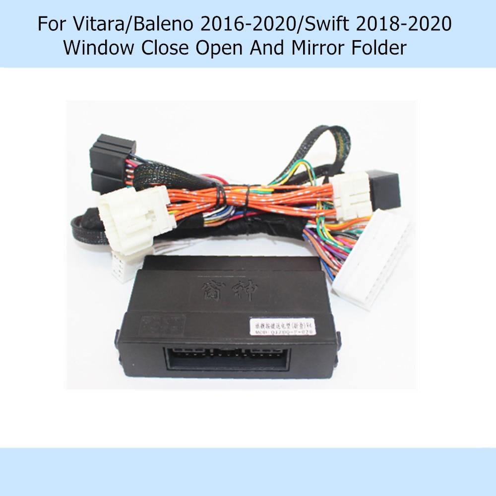 Car Automatically 4 Door Window Closer Open Side Mirror Folder Folding Spread For Suzuki Vitara/Baleno 2016-2020/Swift 2018-2020
