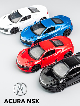 KIDAMI 1:32 honda Acura Model Car Alloy Diecast Pull Back High Simulation Car Toy For Kids oyuncak License Collection Gift 1 18 diecast model for acura mdx 2015 red alloy toy car miniature collections page 4