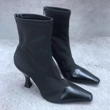 Ботинки с носками; Женские ботинки эластичной резинкой; высоким
