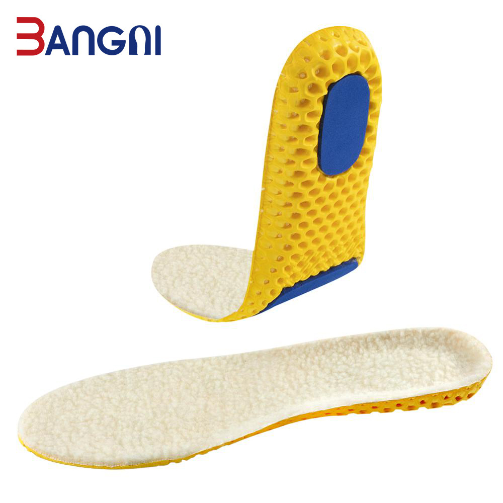 3ANGNI Heated Cashmere Thermal Warm Insoles Thicken Soft Breathable Winter Sport Shoes Insoles Insert Unisex Boots Pad Sole