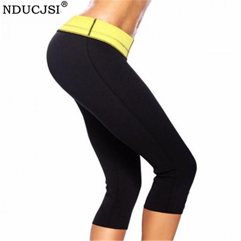 NDUCJSI Sweatpants Neoprene Shaper Pant Women Pantalones Shaper Shaping Body Deportivos Mujer Capris Self Heating Legging