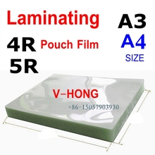 50mic(4mil) A4 Size PVC Clear Glossy 2Flap Laminating Pouch Hot Laminator Superplastic film 2017 new 12 generation m230 8230 laminator a4 rollers laminator hot roll laminating machine