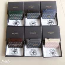 Moda casual peixe-escala padrão de impressão couro multicolorido macio lado cartão pacote unisex vários slots de cartão moeda bolsa