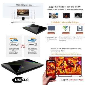 Image 5 - M9S Z8 Smart Tv Box Android9.0 2.4G Wifi Lan 10/100M 6K Hd Set Top Box 4 Gb 32 Gb/64 Gb 3D 2.4G Draadloze Muis Youtube Media Player