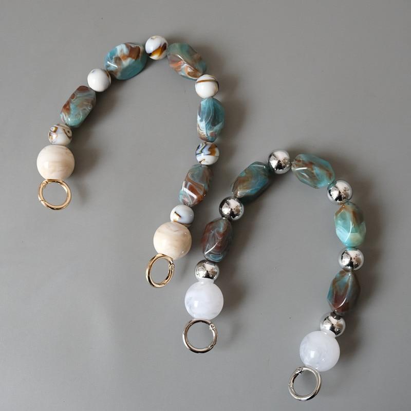 2020 New Women Bag Chains Lady Handbag Accessory Chain Beads Acrylic Resin Chain Luxury Strap