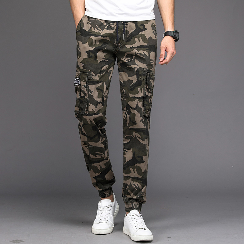 Autumn New Style Men Camouflage Pants Casual Slim Fit Gymnastic Pants Men's Closing Workwear Skinny Fashion Man Pants