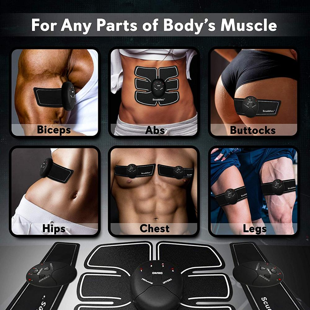 EMS Abdominal Hip Smart Trainer Electric Muscle Stimulator Buttocks ABS Exercise