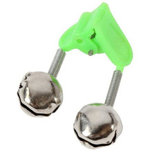 10Pcs Fishing Float Rod Bells Bells Alarm Ring Fishing Bite Rod Clip Green Tip Clip Abs Fish Bell Alarm Fishing Tackle(China)
