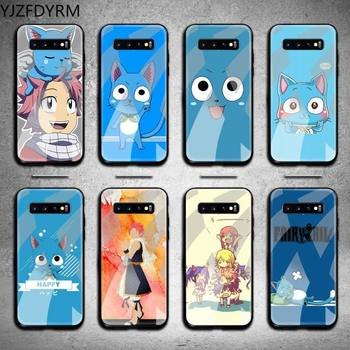 Happy Felice Fairy Tail Phone Case Tempered Glass For Samsung S20 Plus S7 S8 S9 S10 Plus Note 8 9 10 Plus image