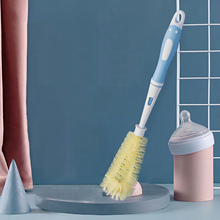 Soft Silicone Long Handle Vacuum Flask Bottle Cleaning Brush Multifunctional Cleaning Cup Brush Household Cleaning Tools