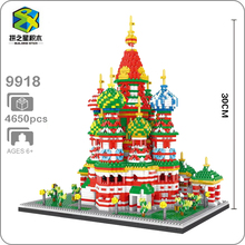 New Bricks World Architecture Vasile Assumption Cathedral Church 3D Modle Mini Small Blocks Diamond Building Toys for Children