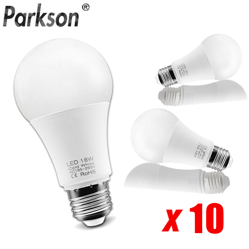 10pcs/lot LED Light E27 LED Bulb AC 185V-265V LED Lamp 18W 15W 12W 9W 6W Lampada LED Spotlight Table Lamp Bulb Saving Energy