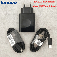 Original Lenovo USB cargador de enchufe de la UE adaptador de pared tipo C/Micro USB Cable 12V2A para Lenovo Z6 Z5 K12 Vibe Pro P2 P1 K3 K5 S5 Pro