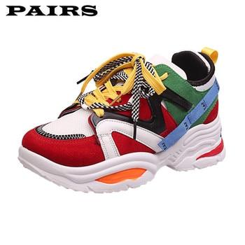 Zapatillas de deporte a la moda para mujer, suela gruesa, zapatos de plataforma para mujer, zapatillas masculinas gruesas de celebridad Web, zapatillas masculinas para mujer, Buty Damskie