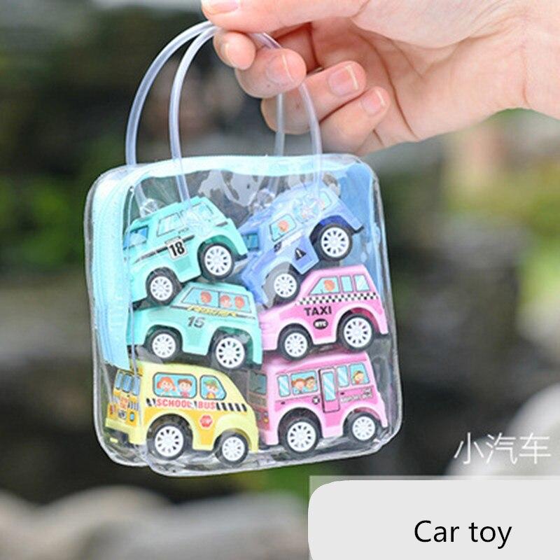 6 шт., игрушки для автомобиля, мобильная техника, магазин, строительная машина, пожарная машина, модель такси, детские мини-машинки, игрушки для мальчиков, рождественский подарок