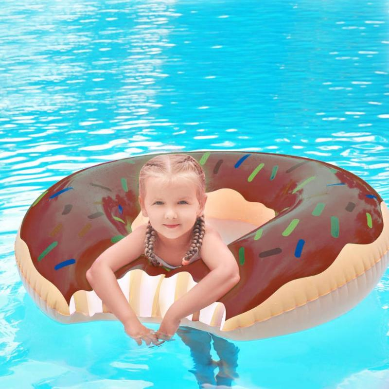 PVC Inflatable Donut Swimming Ring Child Adults Life Buoy For Water Sports