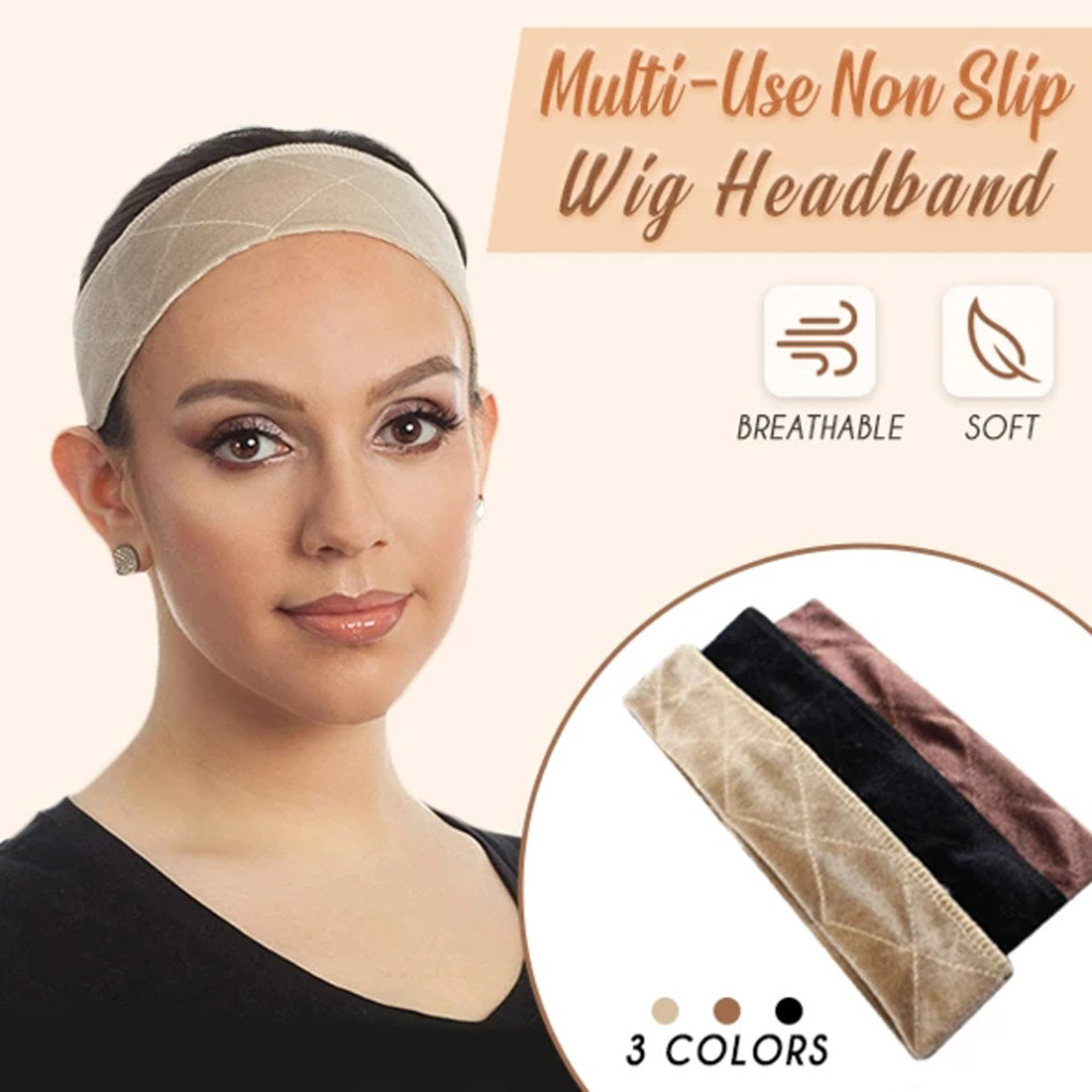 New Fashion Hair Band Fixed Anti-Slip Grip Band With Double Sided Velvet Adjustable Wig Hair Accessories Hair Band