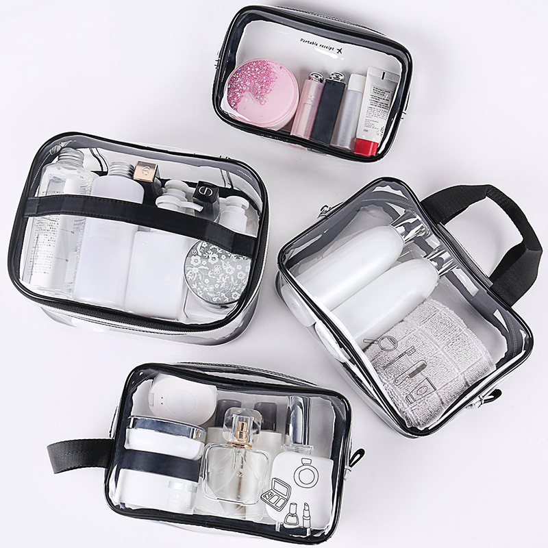 Transparent PVC Cosmetic Bag Women Make Up Case Travel Clear Makeup Beauty Wash Organizer Bath Toiletry Storage Cosmetic Bag